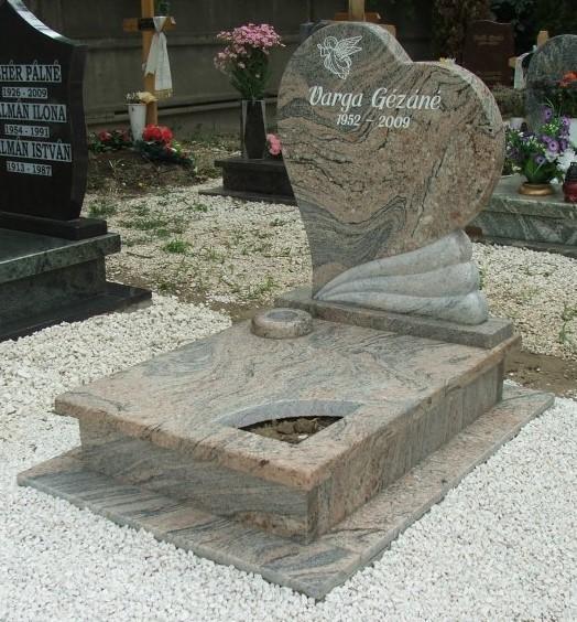 Juparana gránit urnás síremlék akciós ár 185.000 Ft