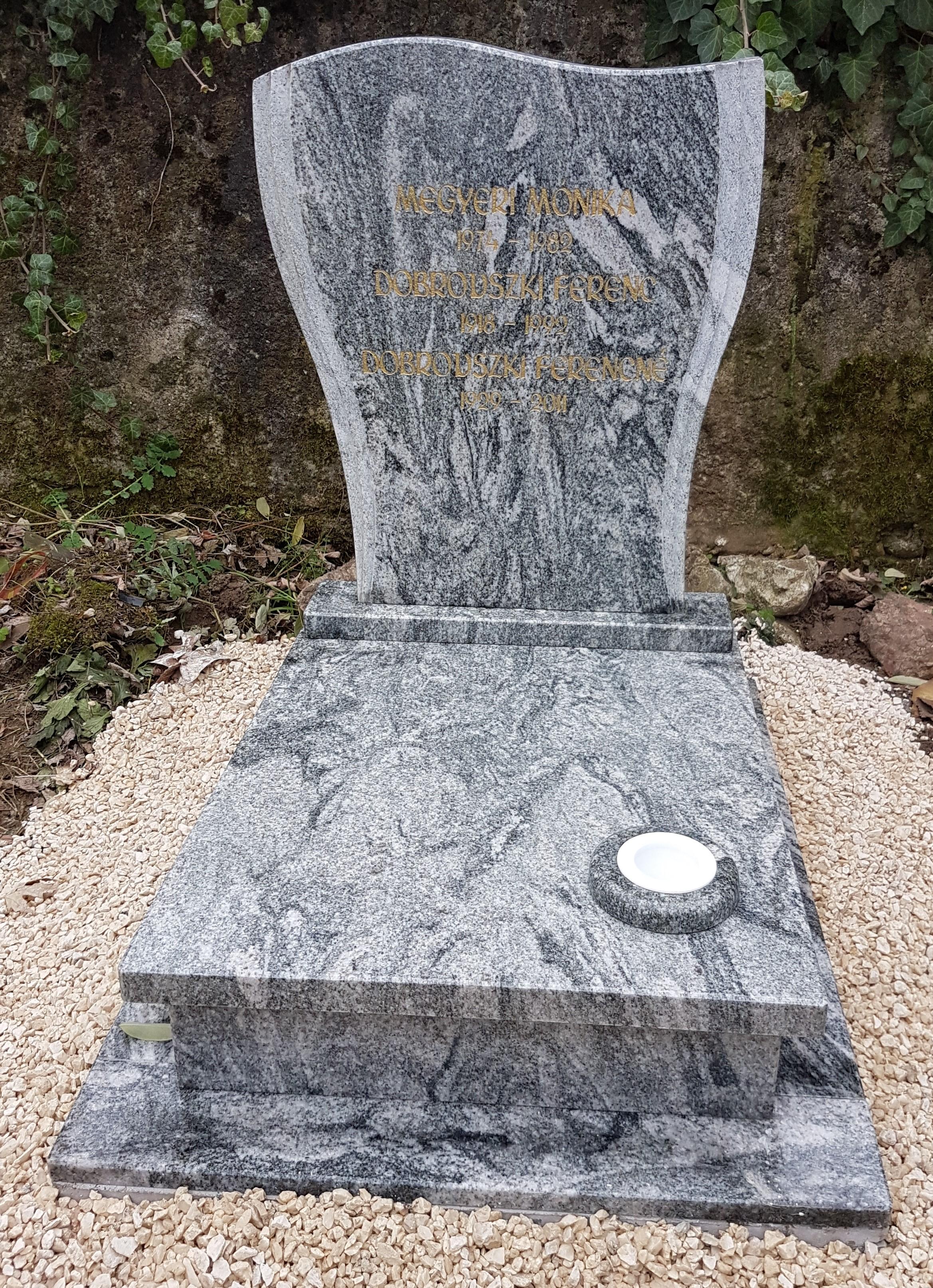 Verede marina gránit urnás síremlék akciós ár 180.000 Ft