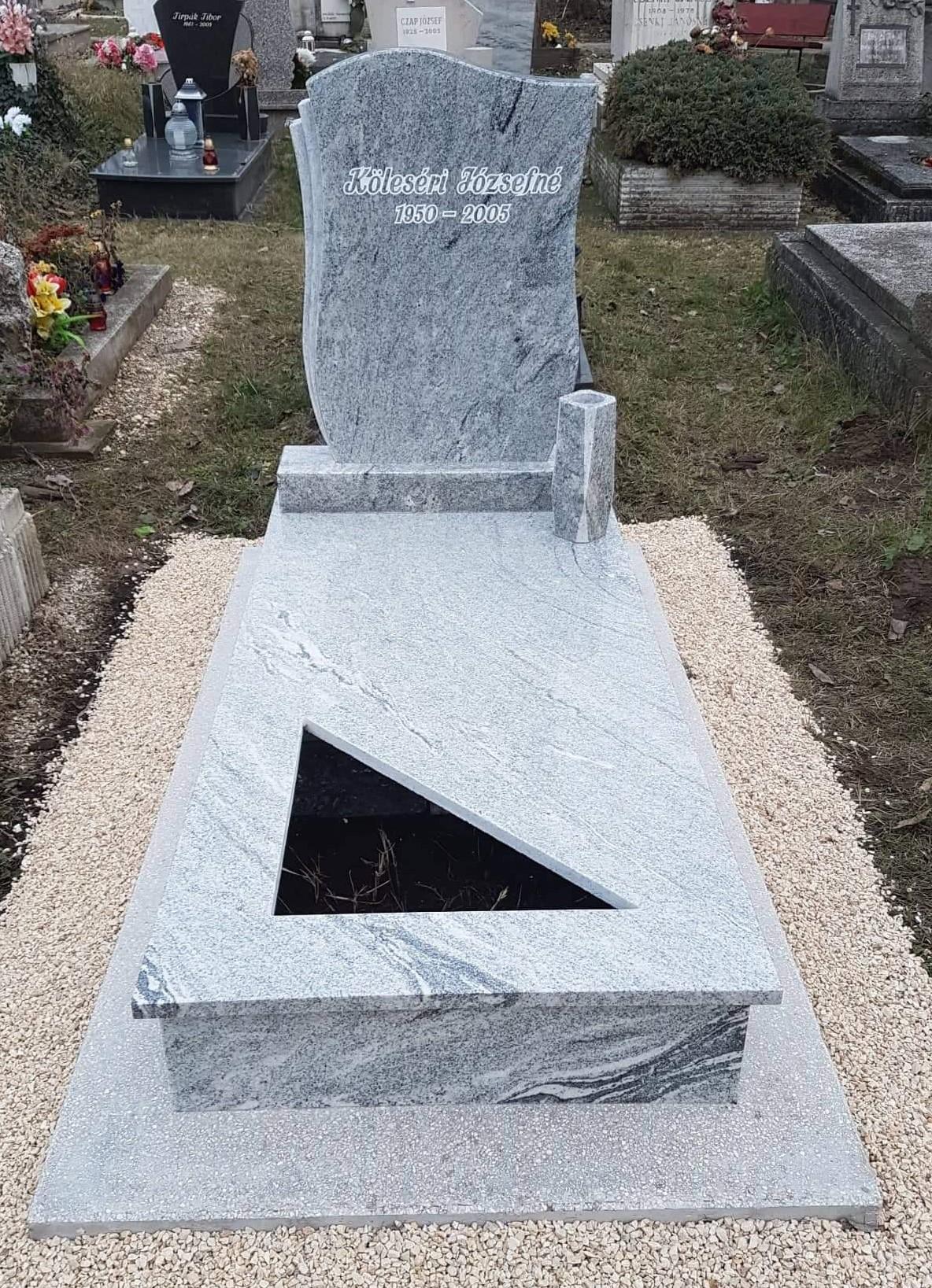 Viscount white szimpla gránit síremlék akciós ár 430.000 Ft
