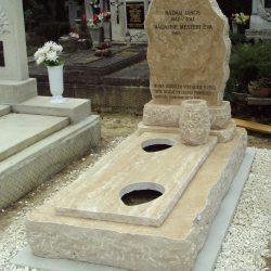 Mészkő szimpla sziklás síremlék akciós ár 650.000 Ft