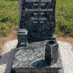Olive green gránit urnás síremlék akciós ár 195.000 Ft